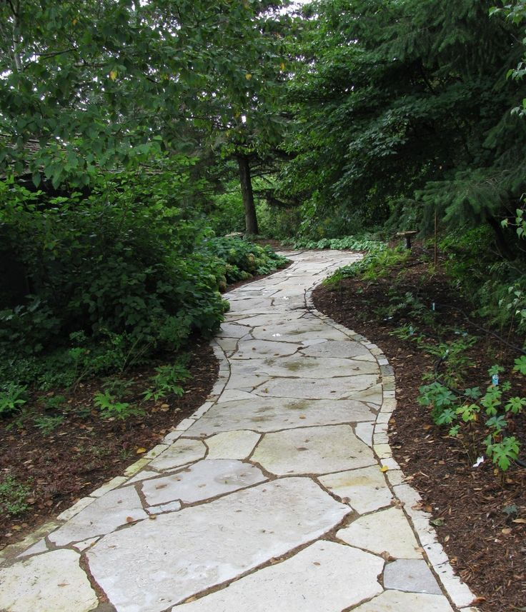 Forging A Path Using Natural Stone Landscaping With Rocks Landscape Edging Sloped Garden