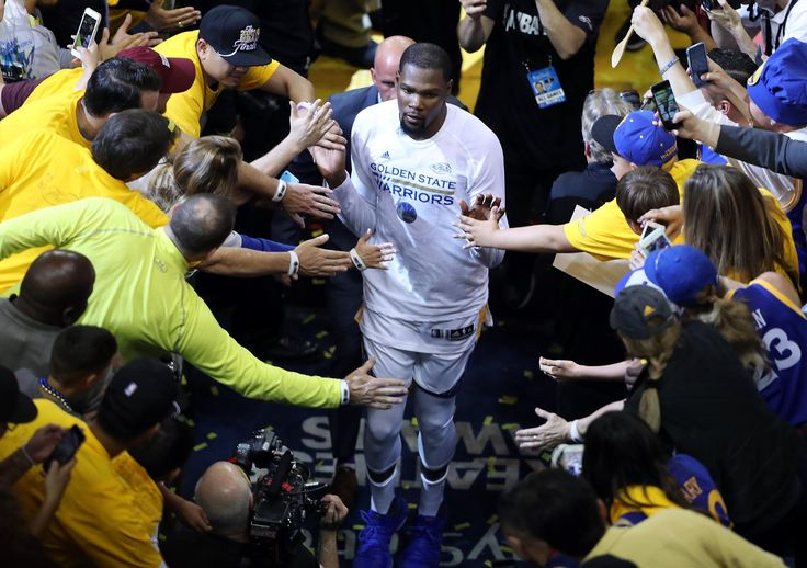 """Warriors' summer trip to Hamptons for Kevin Durant well worth it  A lot can happen between now and the end of this NBA Finals, but if the first game is any indication, basketball history was made in that house, where the free-agent forward met with his suitors, like in """"The Bachelor,""""  and the Warriors won his heart.  Stephen Curry, legend has it, assured Durant back then that the Warriors would not belong to any one player.  Did the NBA lower the rims for the Finals?  Dunks count the same…"""