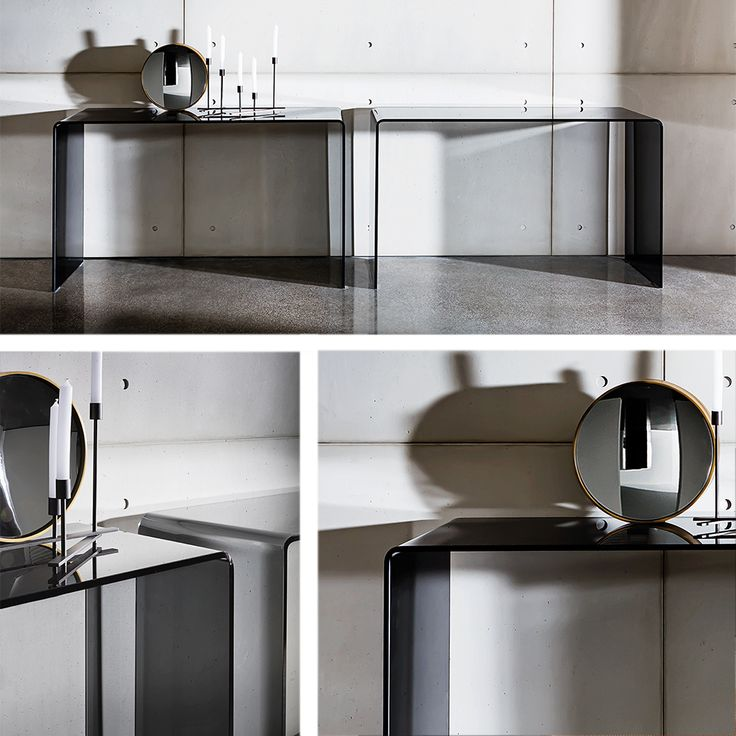 Be inspired by smoked #glass in Bridge hall console #interior #home #decor #inspiration#idea #furniture #madeinitaly#italianstyle