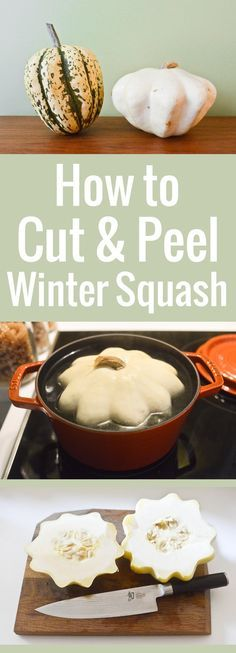 Ever wondered how to cut and peel hard winter squash? This simple trick makes them very easy to slice so you can cut them into chunks for soup or roasting.