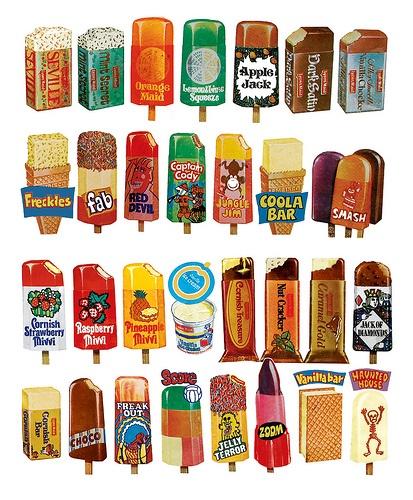 Vintage ice lollies