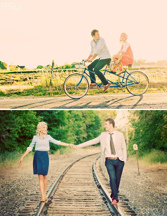 i like the tandem bike :): Engagement Pictures, Photo Ideas, Tandem Bike, Engagement Photos, Wedding Ideas, Engagement Pics, Couple, Engagement Shoot