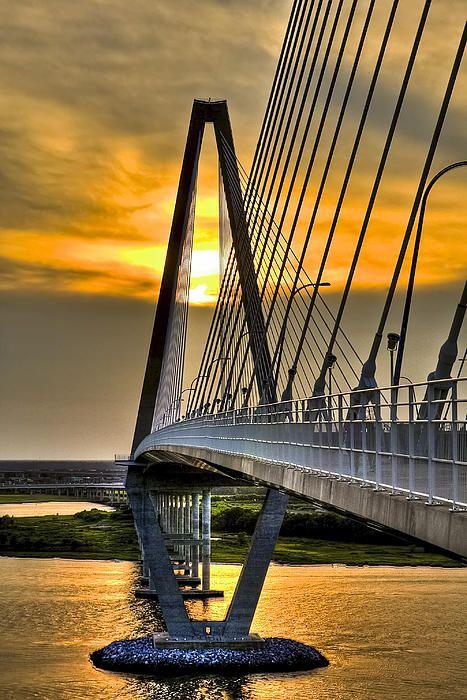 ✯ Diamond Sunset - (New Cooper River Bridge in South Carolina)