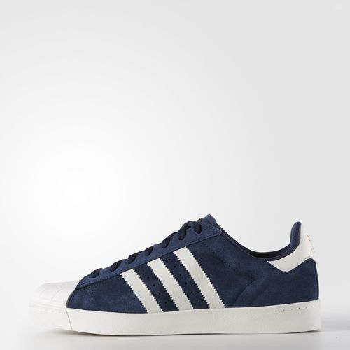 Adidas Superstar Vulc ADV shoes : - Vulcanized Rubber outsole - Abrasion-resistant rubber shell toe - ADIPRENE drop-in piece combination sockliner and midsole - Increased heel cushion and board feel -