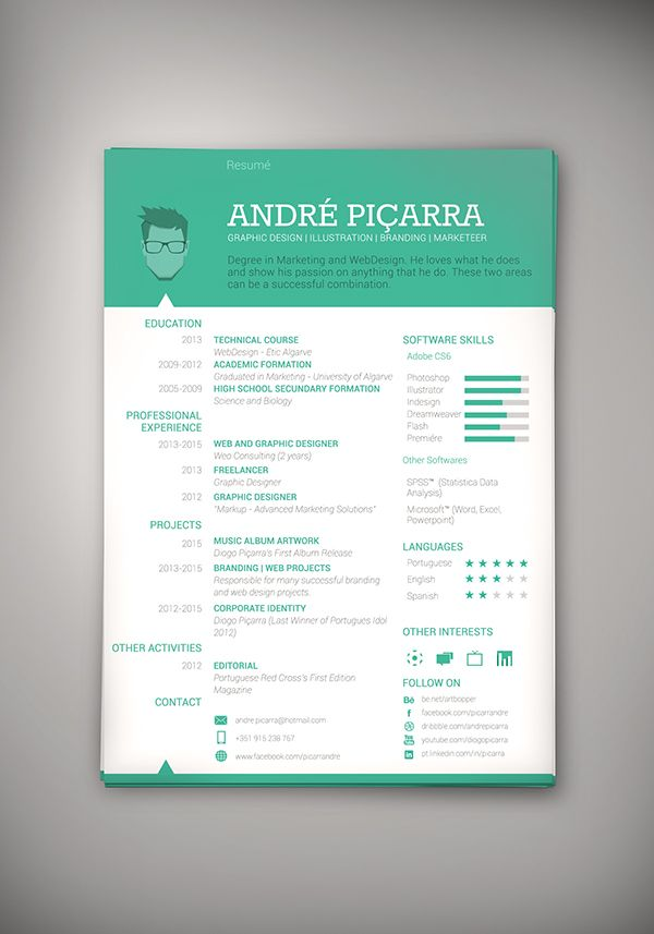 17 best images about cv on creative resume