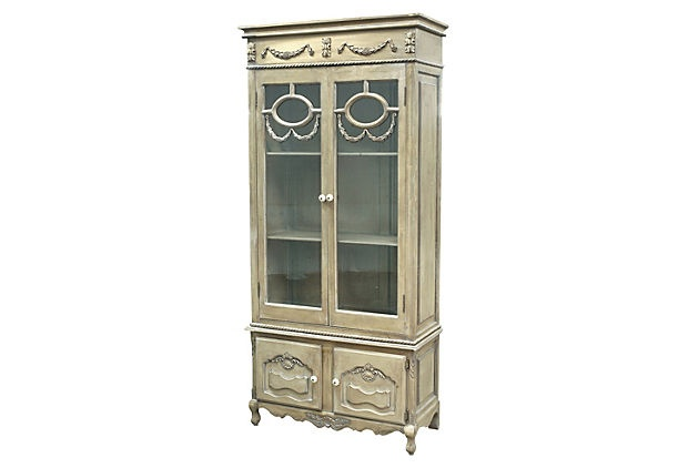 """Stirling Industries Chandler Cabinet via One Kings Lane $679 made of: MDF/polyglass/ceramicSize:36.25""""W x 15.75""""D x 78.5""""HColor:antiqued cream/tan"""
