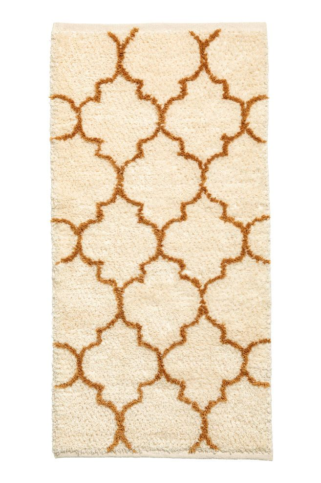 Wool-blend rug - Natural white/Ochre - Home All | H&M GB 1