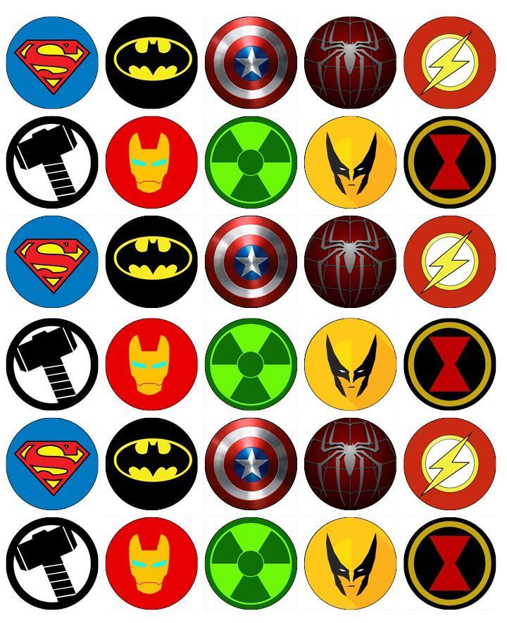 30 x Batman Game Party Edible Rice Wafer Paper Cupcake Toppers