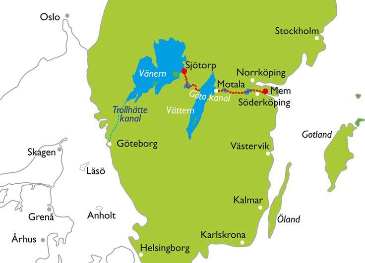 nice Lake Vanern Sweden Map