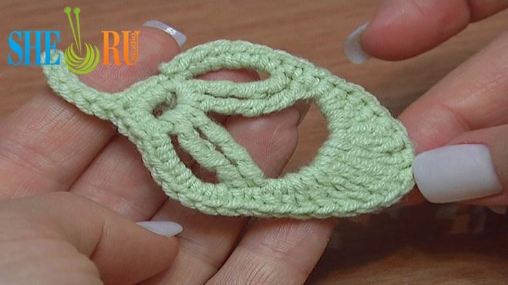 How to Crochet Leaf Little Oval Tutorial 20 (+playlist)