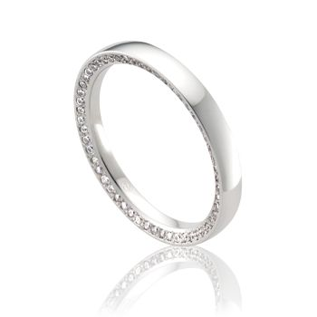 OR3739 - Australian Made Ladies Wedding Rings. Diamonds set on the edge of our Orion profile. www.pwbeck.com.au