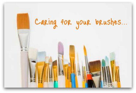 youtube how to clean acrylic paint brushes