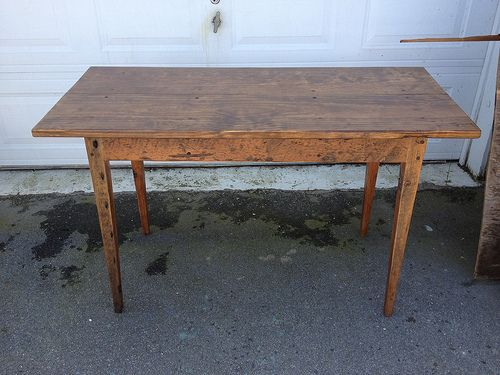 Natural Desk Made From Reclaimed Wood By Landrum Tables In