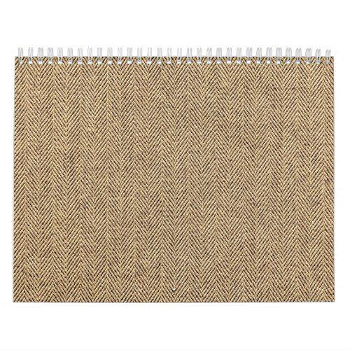 Shabby Chic Tweed Rustic Burlap Fabric Texture Calendar
