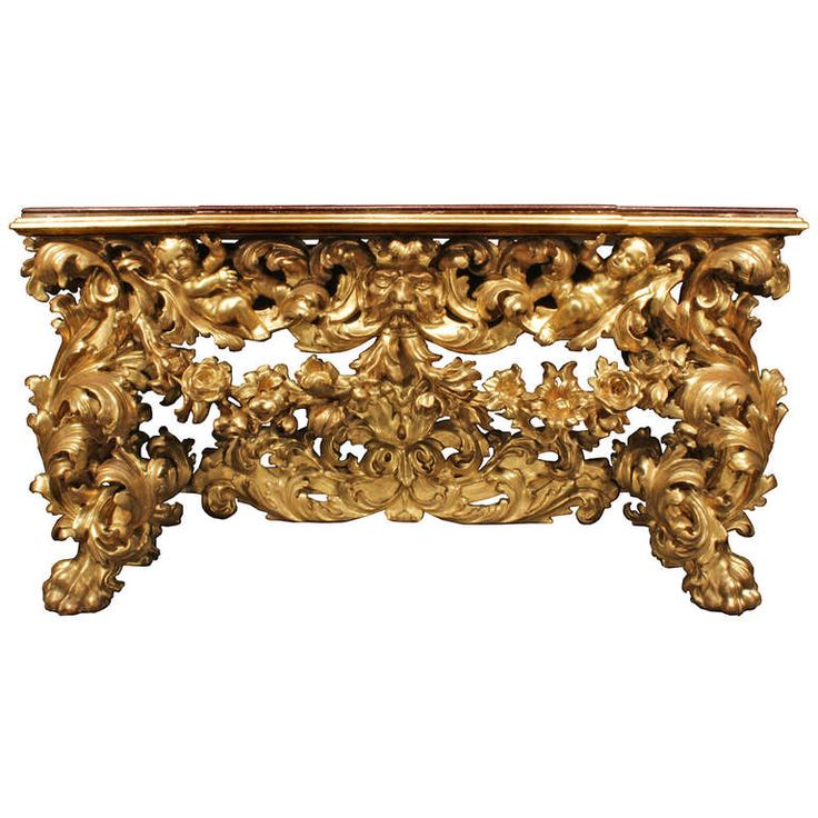 Italian Early 18th Century Baroque Giltwood Console. Circa 1730| From a  unique collection of - 838 Best Antique Furniture Images On Pinterest Antique Furniture