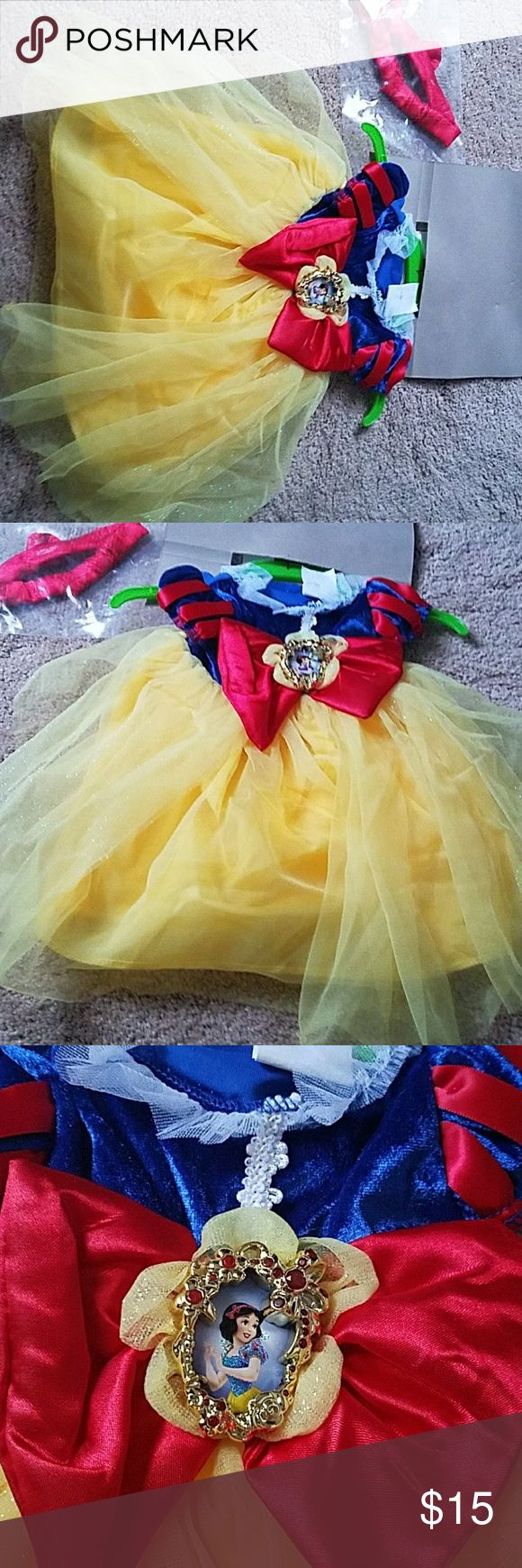 NWT Disney Baby Snow White 6 months infant girl Never worn with tags attached Includes Headband Disney Baby Costumes