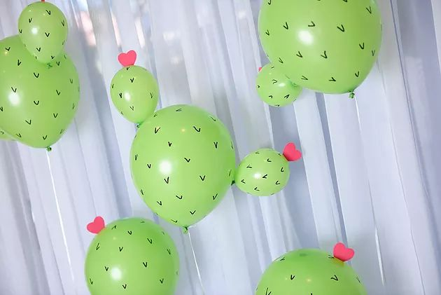 Stuck on You! | a cactus inspired party | The Creative Heart Studio - A DIY and Party Inspiration Blog. Cactus Centerpieces, Valentine Cactus Party, Valentine's Day Teacher gifts