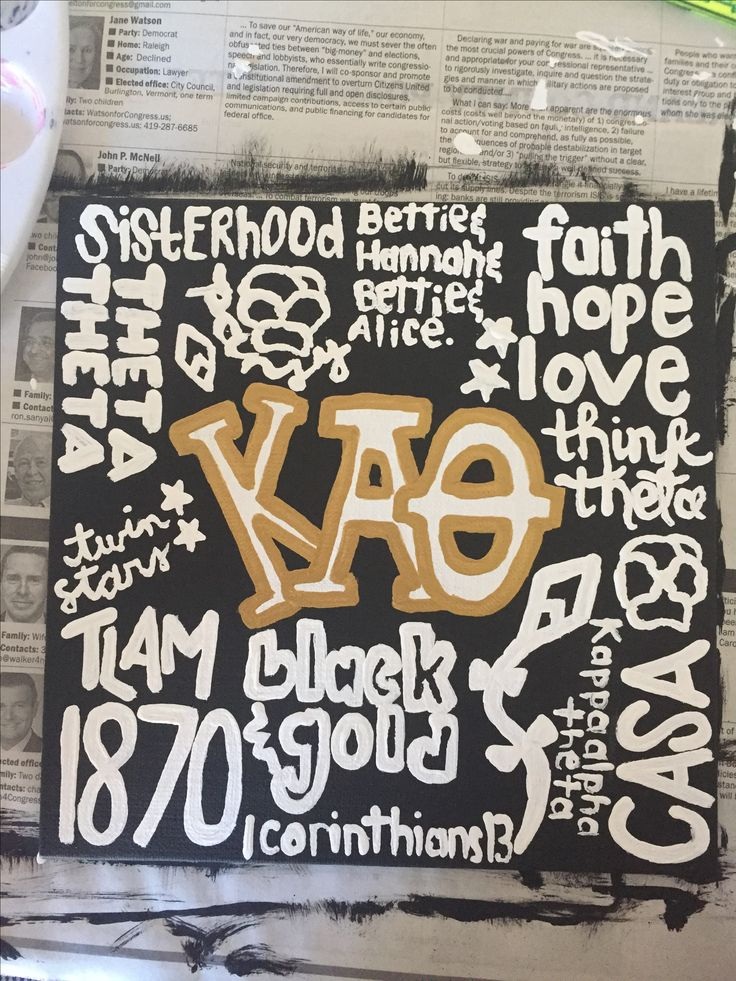 Kappa Alpha Theta big little gift canvas