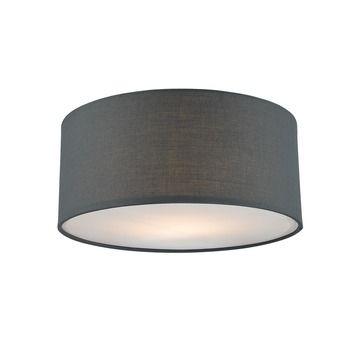 Plafondlamp Fenna doorsnee 25cm grijs | Plafond- & wandlampen | Verlichting | GAMMA