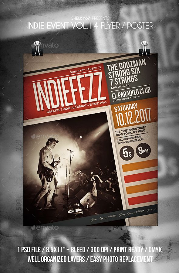 #Indie Band #Event #Flyer Vol 14 - Events Flyers