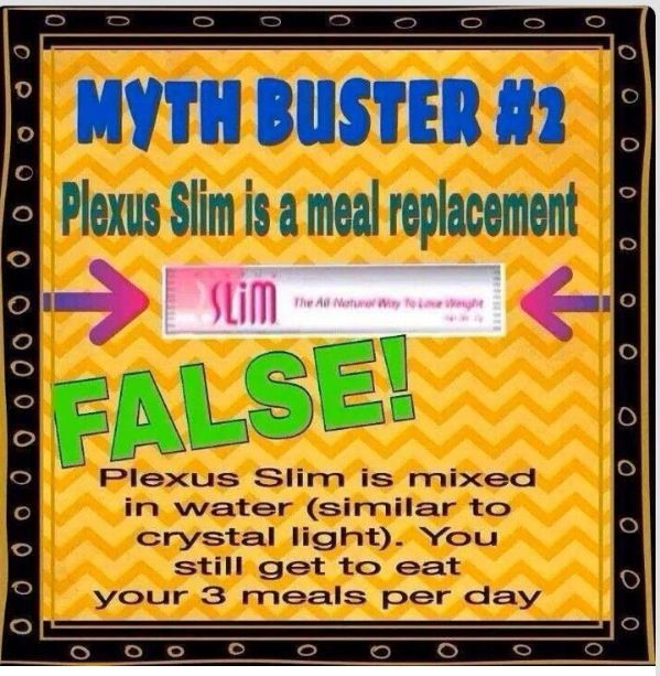 Plexus Slim tip - Let your 3 meals be sensible! Don't overeat just because you're on Plexus Slim and you think that will take of everything.