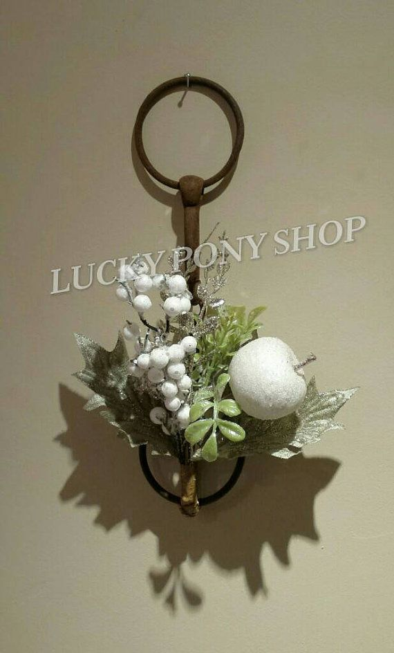 Rustic Christmas Decor https://www.etsy.com/listing/214211226/antique-horse-bit-from-mid-1900s