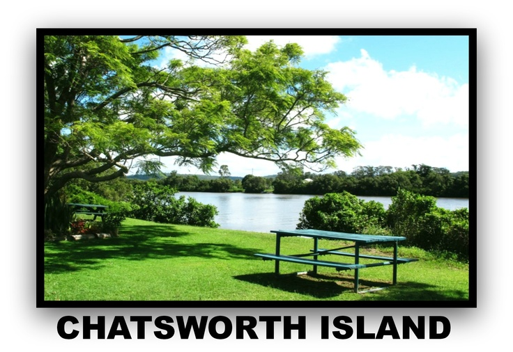 Chatswoth Island Village set on the bank of the Clarence River.
