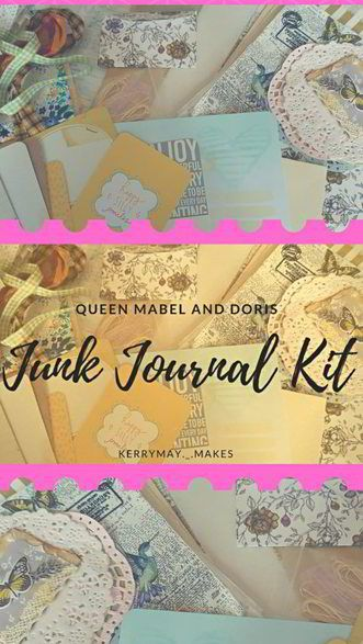 An unboxing of a beautiful junk journal kit to make your own stunning vintage junk journals and altered books using a kit by Queen Mabel & Doris on Facebook and on Etsy. This is such a pretty kit and could be used in so many ways. Kerrymay._.Makes