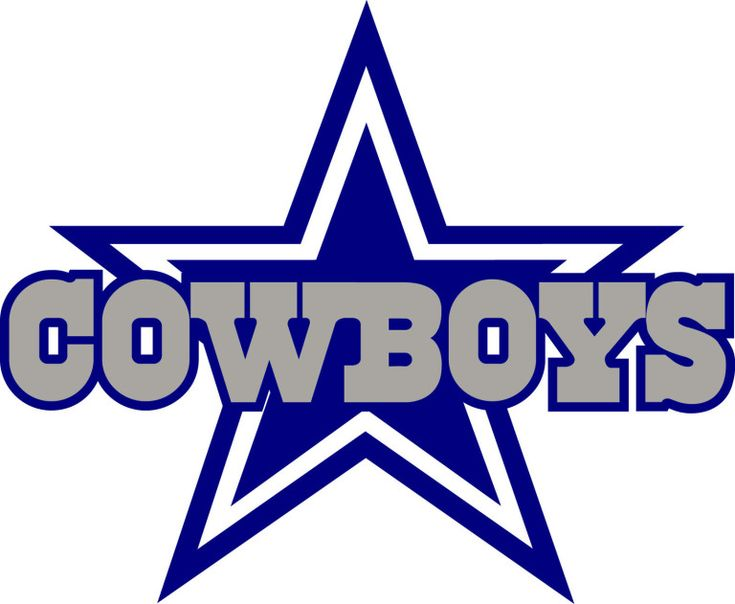 Dallas Cowboys star logo. Fútbol Americano.