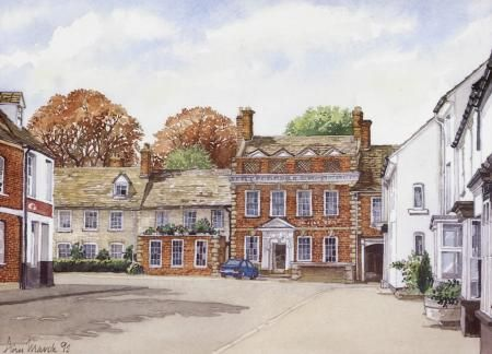 Jesmond House Highworth by Ann March, Ann March, Highworth Artists' Society Highworth Artists' Society, SAA Professional Members' Galleries