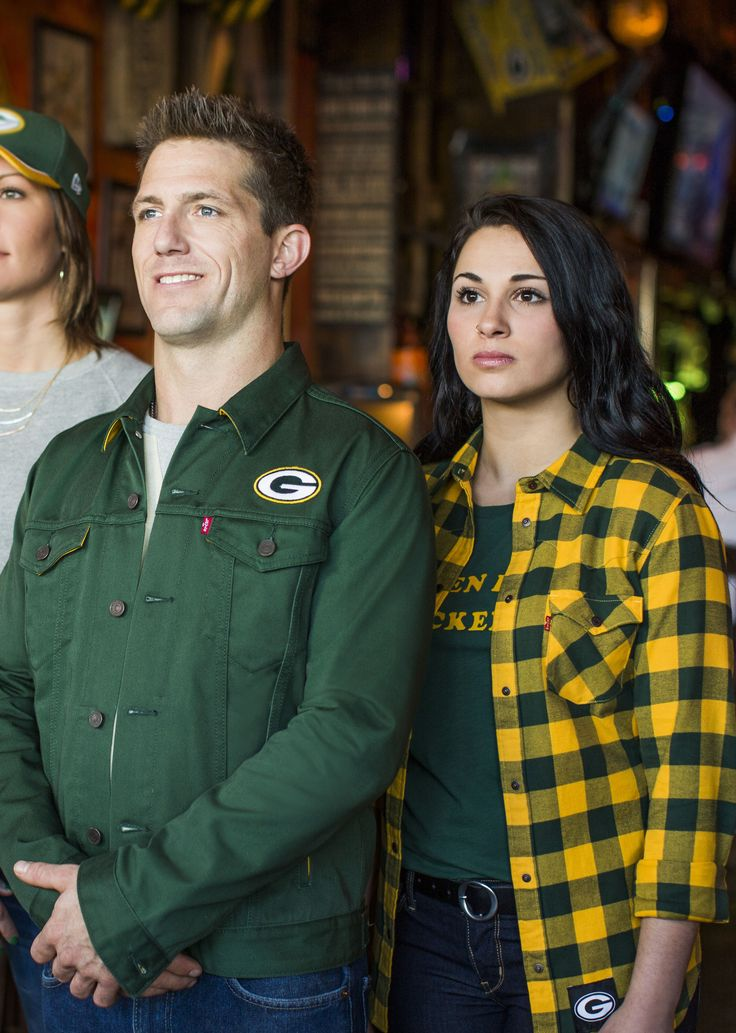 Green Bay fans - meet the Levi's NFL Collection.Classic game-day style meets sports apparel. How will you #ShowUp?