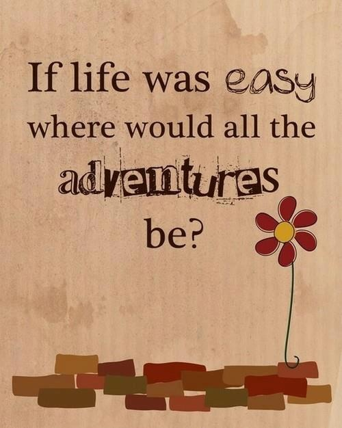 If life was easy where would all the adventures be ? | Anonymous ART of Revolution