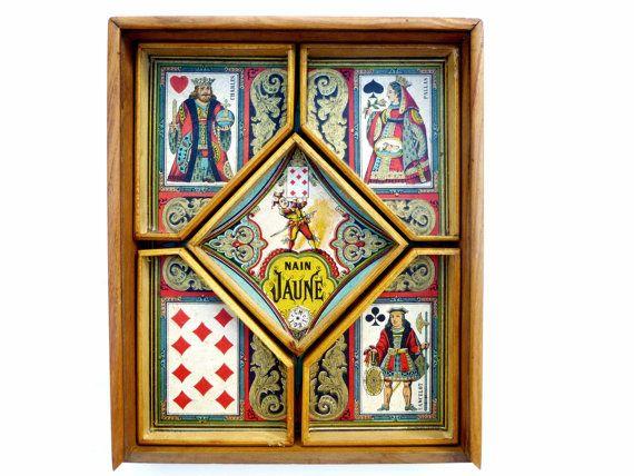 Antique jeu français de Nain Jaune dans son par LeGrenierDeFrancine
