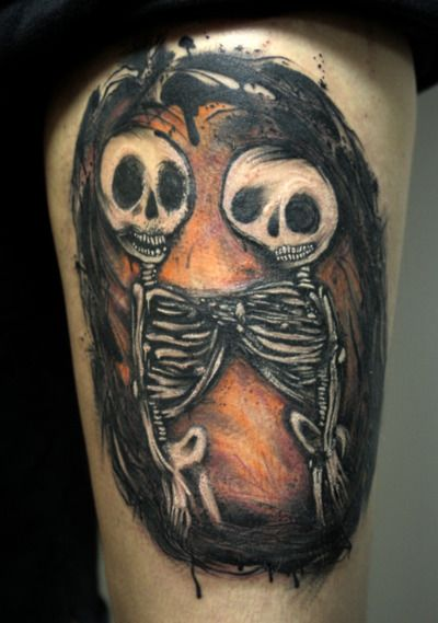 17 Best ideas about Skeleton Couple Tattoo on Pinterest