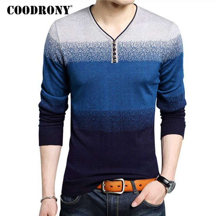 COODRONY Fashion Henry Collar Sweater Male Cotton Wool Mens Sweaters Striped Print Pullover Men V-Neck Pull Homme Plus Size 7105     Tag a friend who would love this!     FREE Shipping Worldwide     Get it here ---> https://onesourcetrendz.com/shop/all-categories/mens-clothing/mens-sweaters-cardigans/coodrony-fashion-henry-collar-sweater-male-cotton-wool-mens-sweaters-striped-print-pullover-men-v-neck-pull-homme-plus-size-7105/