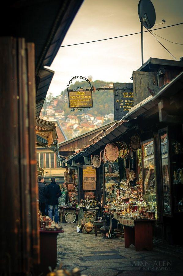 Sarajevo, Baščaršija. The old part and the heart of Sarajevo.