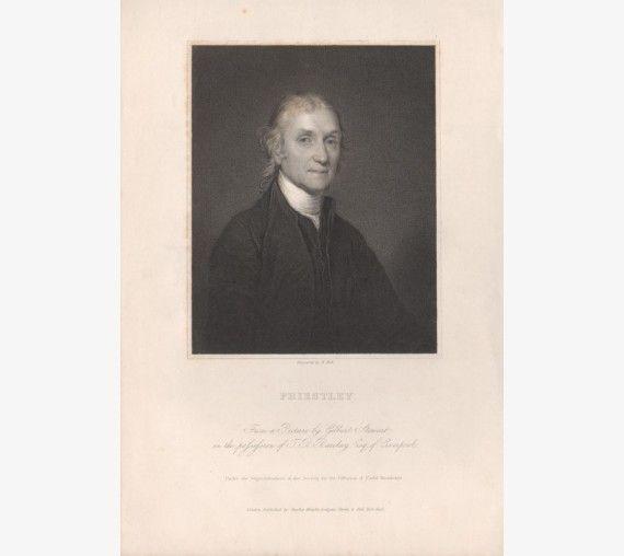 joseph Priestley portrait engraving