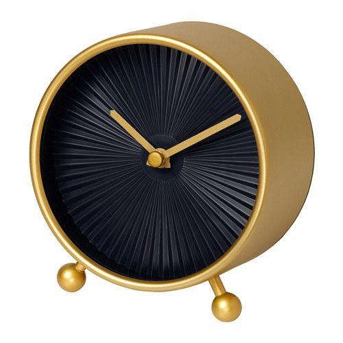 IKEA - SNOFSA Table clock brass color