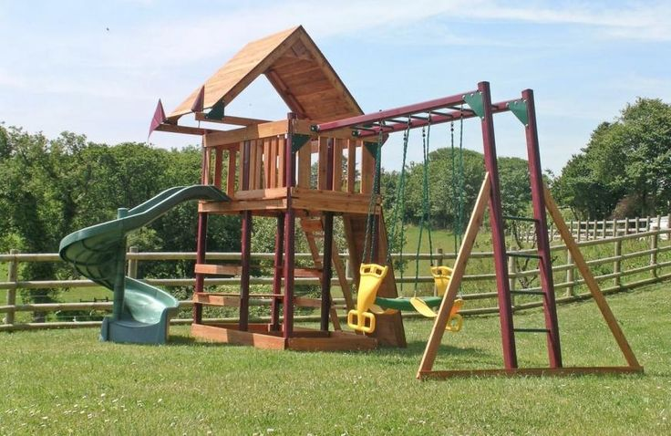 Children's play area | Chiddlecombe Holiday Cottages - Orchard House, Fairy Cross, Bideford