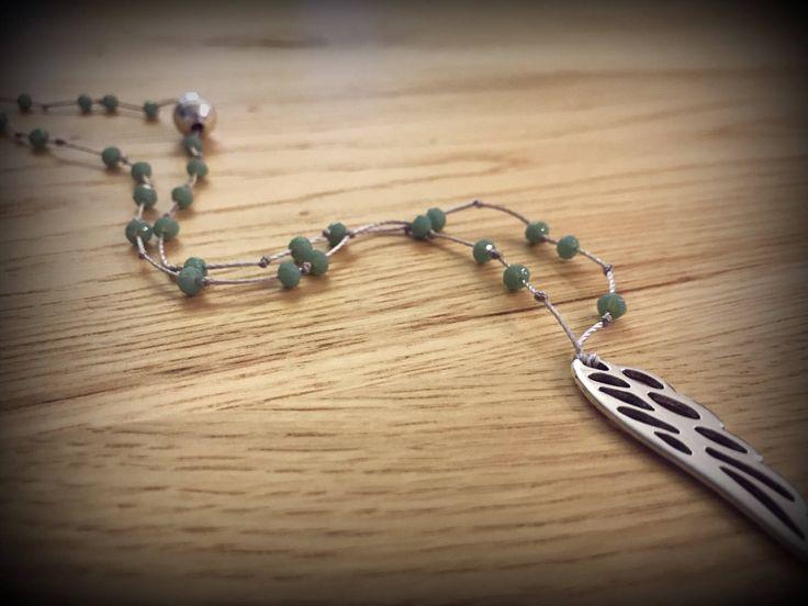 Handmade beaded rosary necklace ..