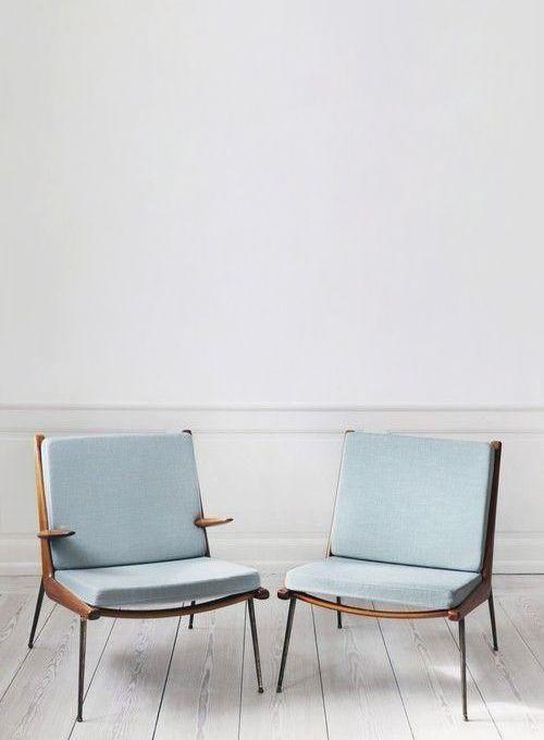 Peter Hvidt & Orla Mølgaard-Nielsen. Boomerang Chair. Lounge chair with solid teak frame. Designed in 1956. Produced by France & Søn
