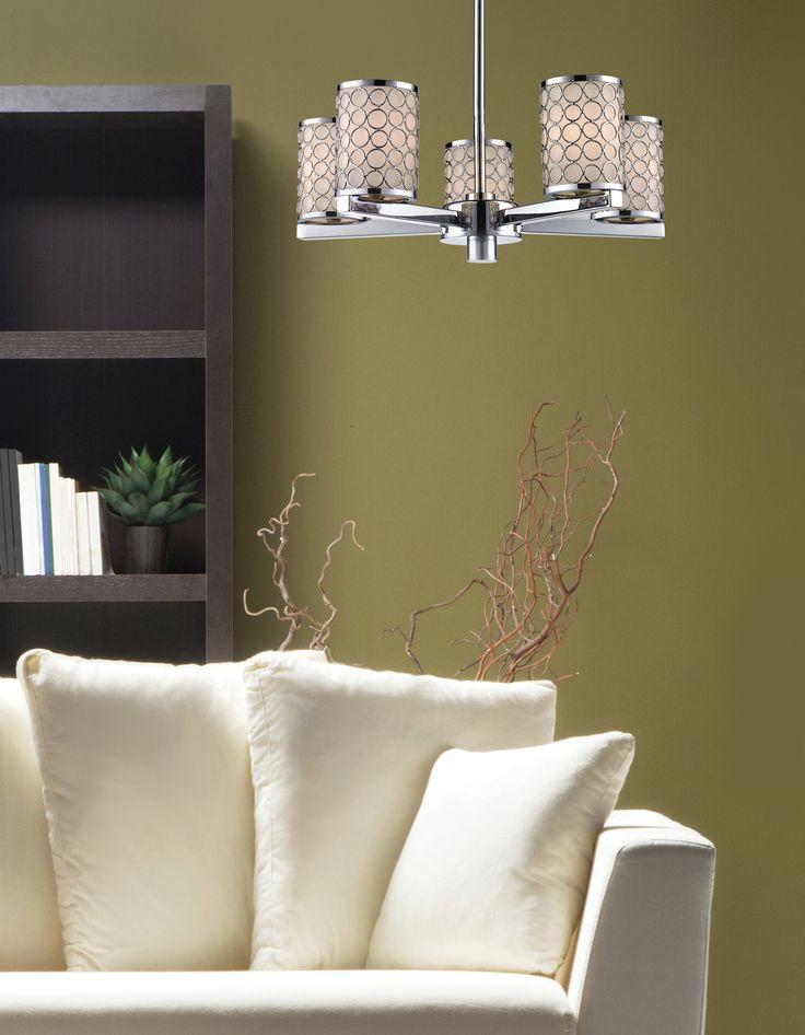199-5  #chandelier #lighting #light #chrome