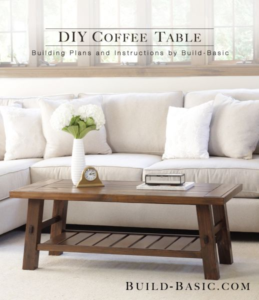 Build a DIY Coffee Table - Building Plans by @BuildBasic www.build-basic.com