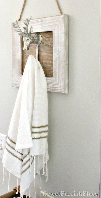 Polished Casual Decorative Hand Towel Hook- Make it Yourself!