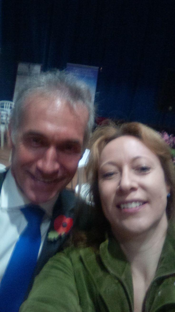 Dr Hilary Jones et moi
