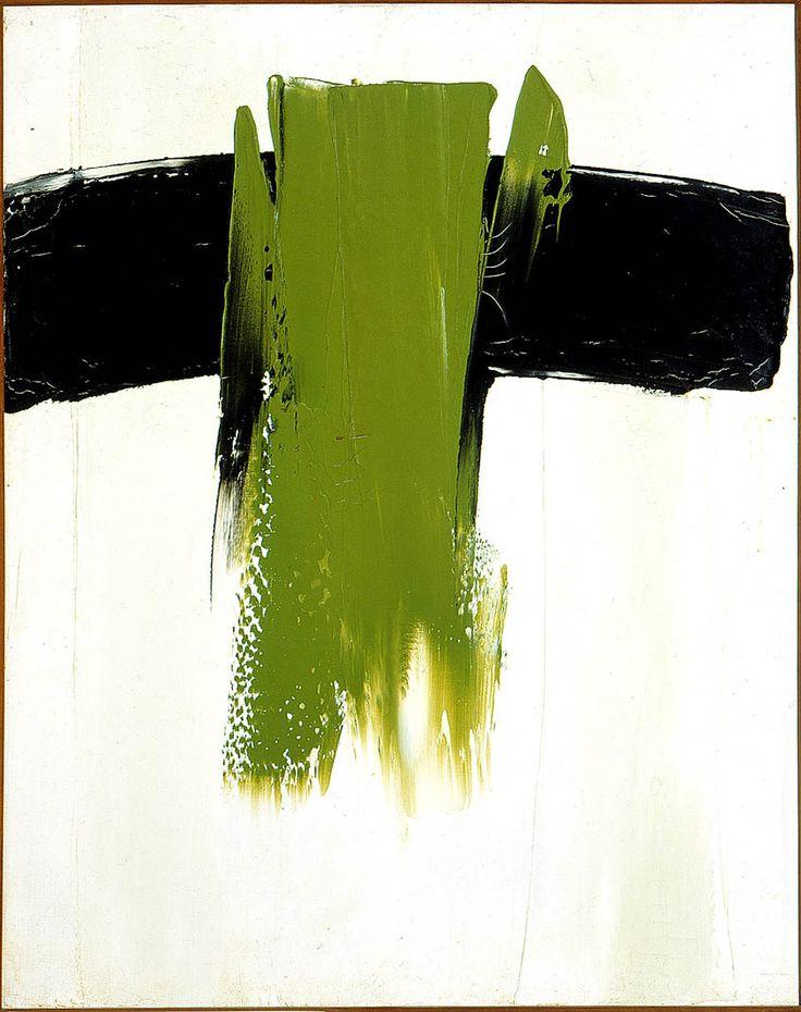 paul-émile borduas . composition 44,    1959 . huile sur toile  92 x 73 cm