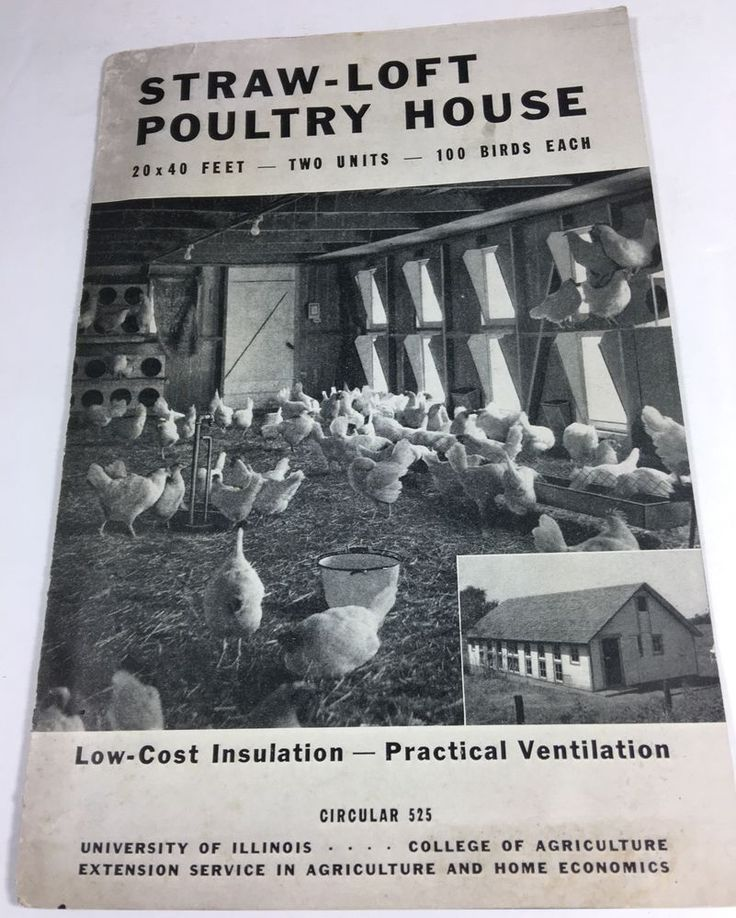 Straw-Loft Poultry House Blueprint Plans for a Chicken Coop 1942 University of Illinois Extension Service Publication