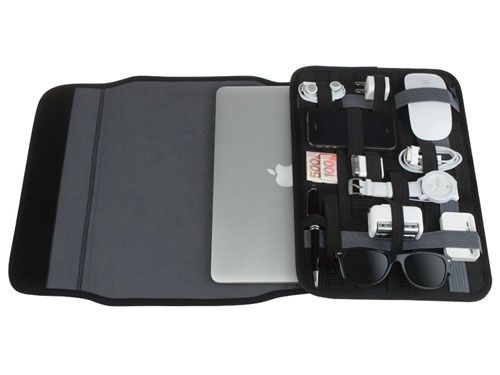 Cocoon Grid-it Laptop Wrap: Get your tech guy organized with this neoprene and rubber sleeve. ($30)
