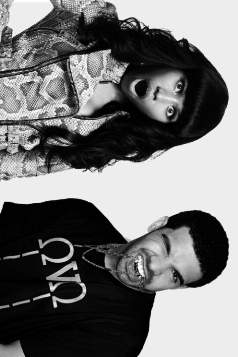 this is ridiculously cute. Nicki and Drake.