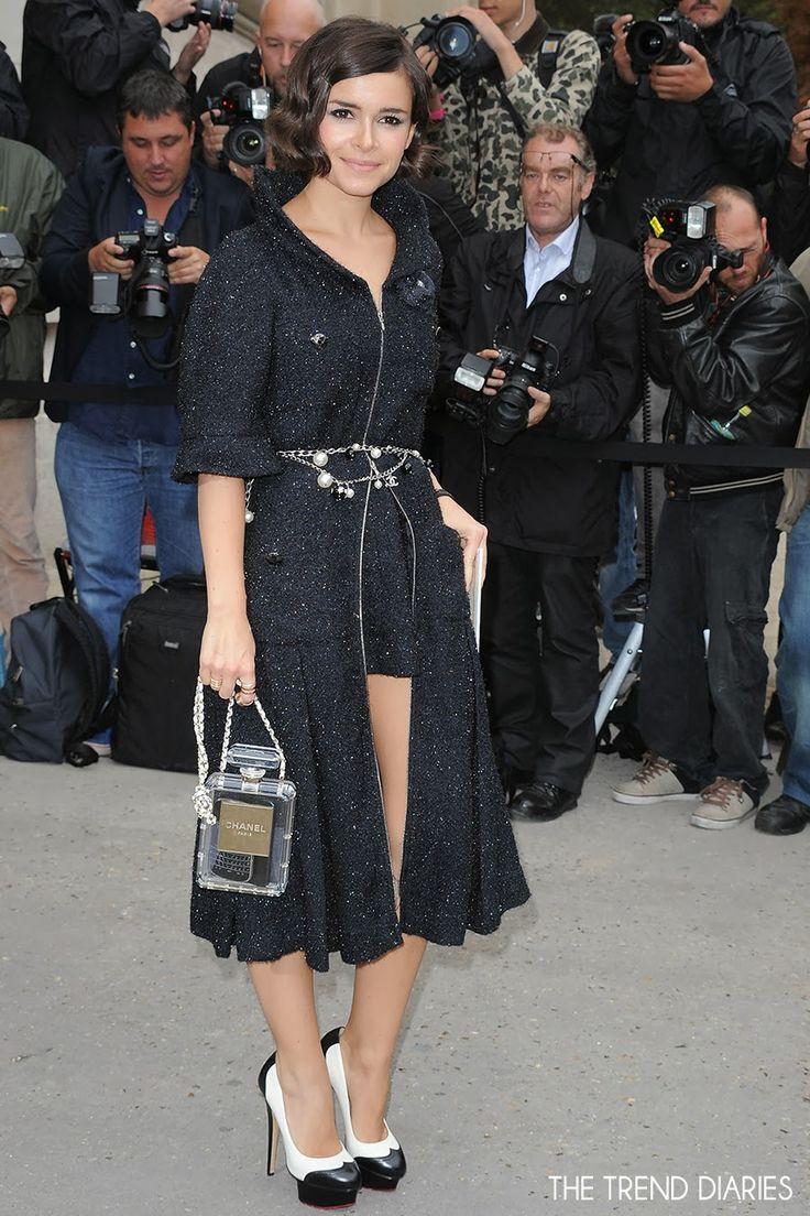 Miroslava Duma at the Chanel Fashion Show during Paris Fashion Week Womenswear Spring/Summer 2014 in Paris, France - October 1, 2013